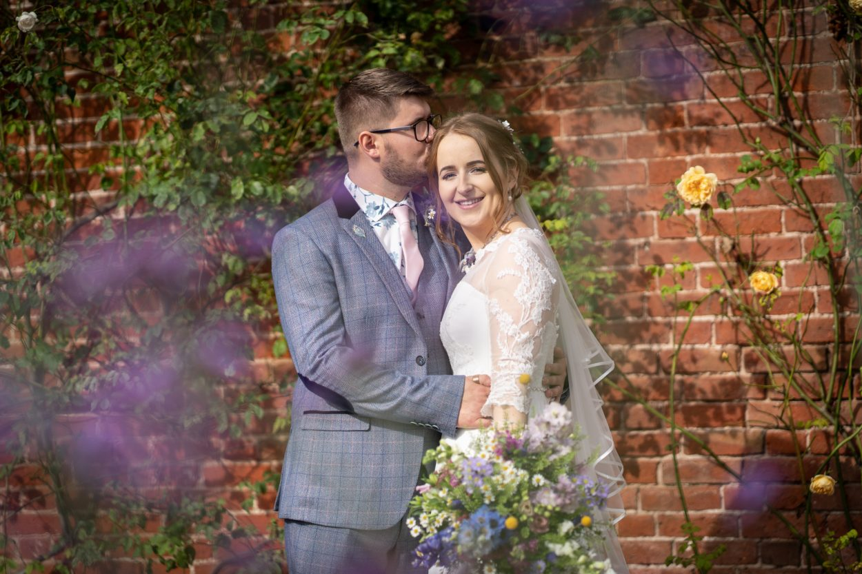relaxed walled garden wedding
